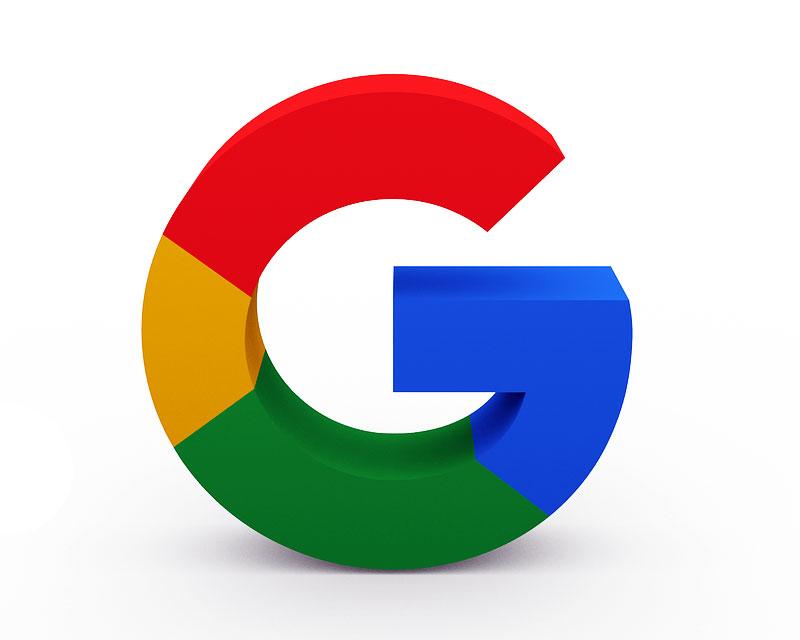 логото на Google - обемна буква