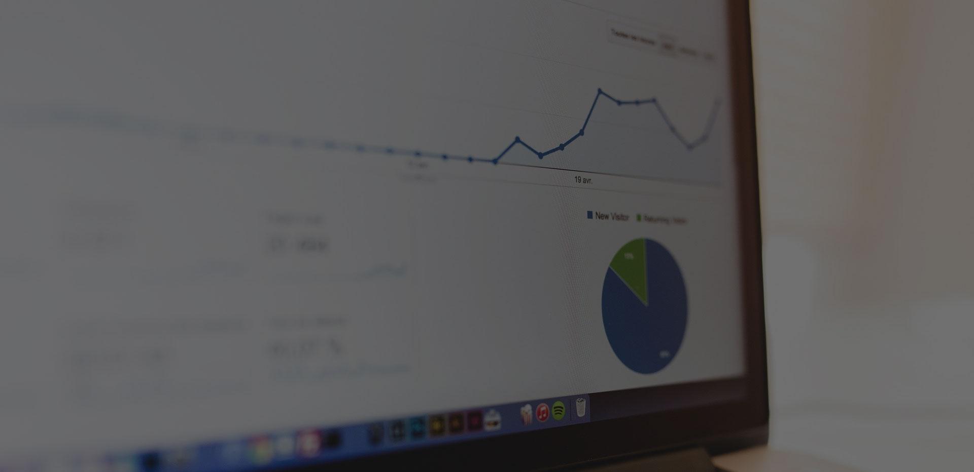 фоново изображение на графика след seo услуги