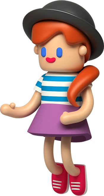 анимирана фигура на момиче
